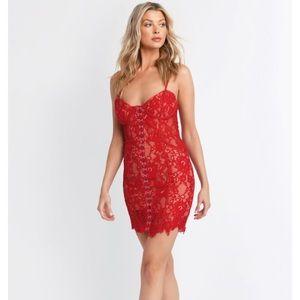 NWT - Tobi redlace bodycon dress